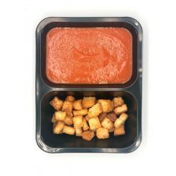 Krem pomidorowy z grzankami